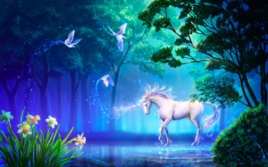 Fantasy-unicorn-horse-tree-magic-art-flower-wallpaper