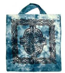 Blue Celtic Cross Tote