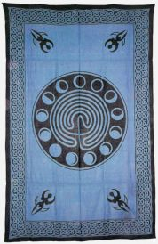 Blue Celtic Earth Tapestry 72x108 inches