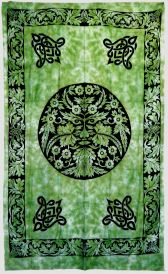 Green Man Tapestry 72x108 inches