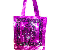 Purple Celtic Cross Tote