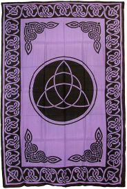 Triquetra With Celtic Knotwork  Tapestry 72x108 inches