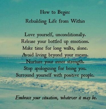 rebuilding your life